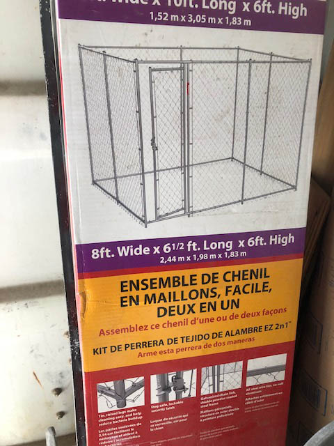 Dog shed area Chain link