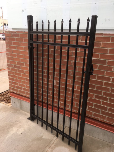 Ornamental Black fence section