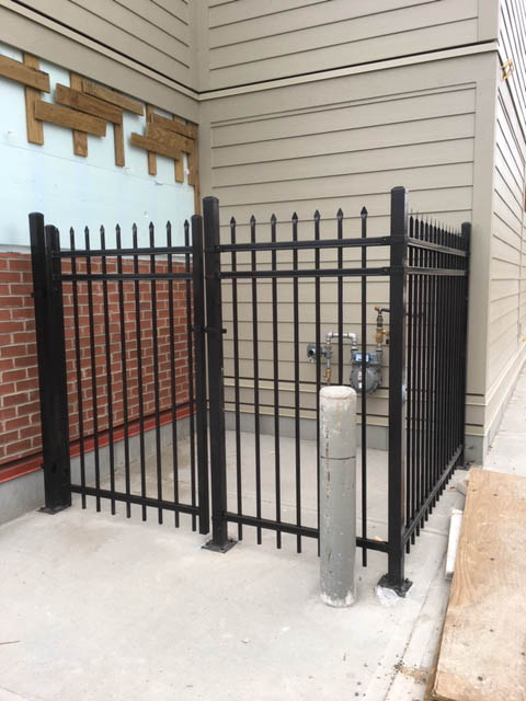 Ornamental black fence