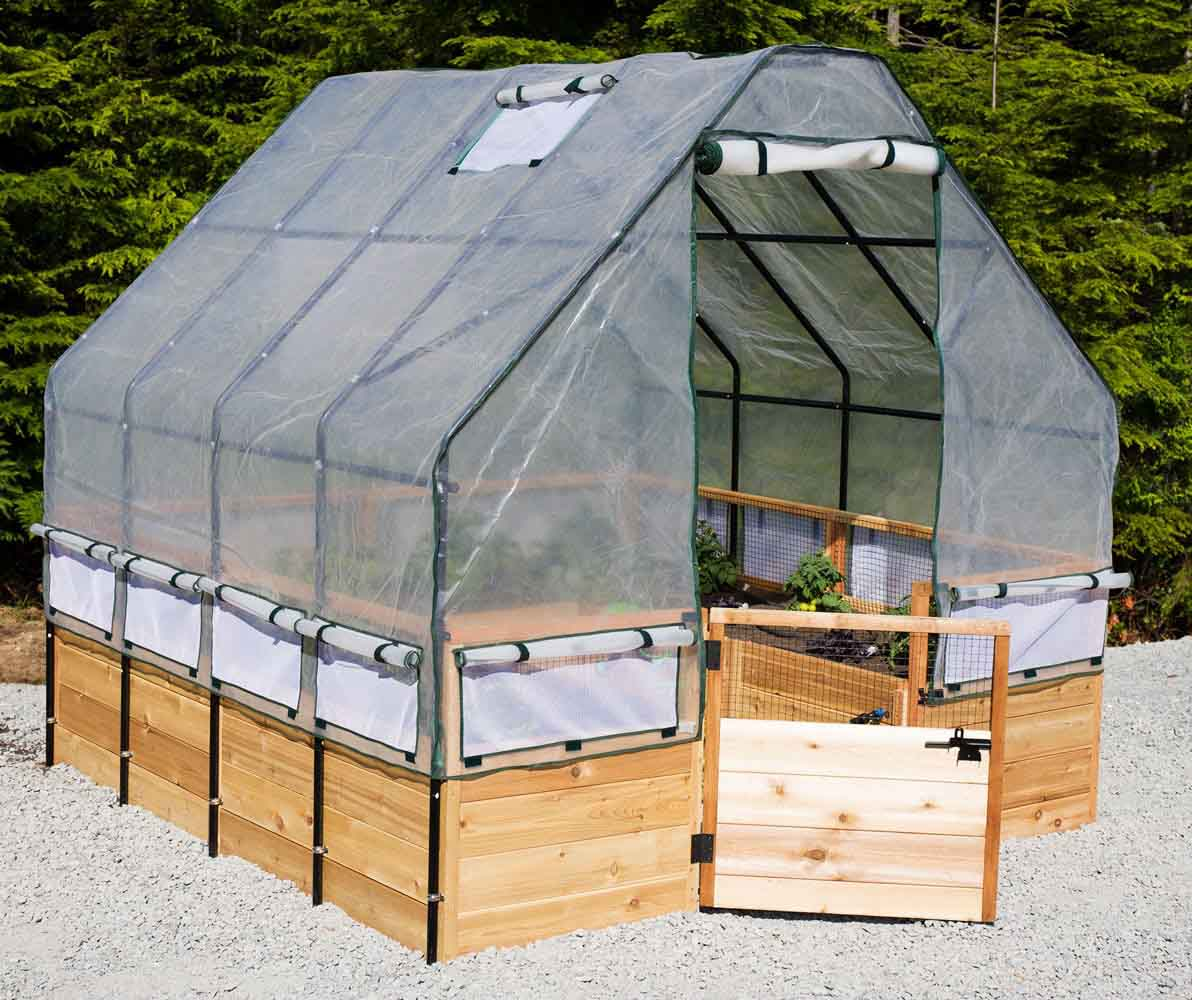 : Raised-Garden-Bed-Greenhouse-cover